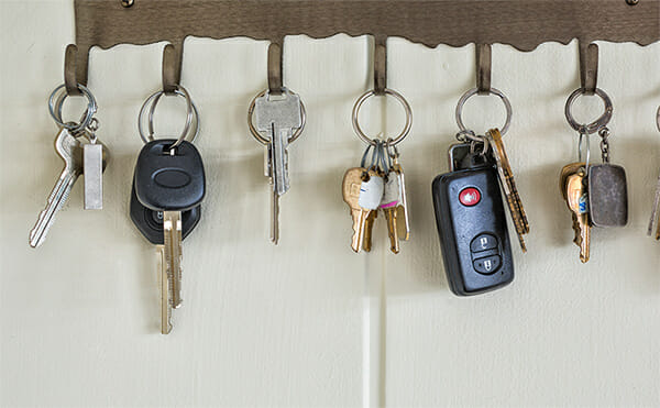 Car keys at home
