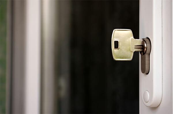 Key left in UPVC door lock