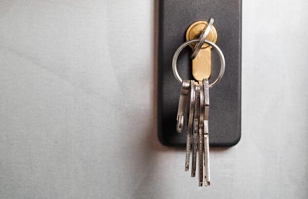 Keys on hook