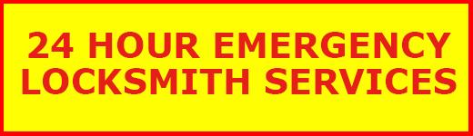 24 Hour Emergency Locksmith Service Banner
