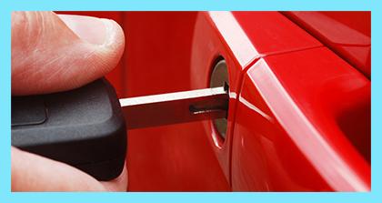 Car key in door