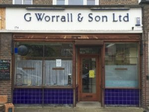 G Worall and Son Locksmith Shop in Southwark London