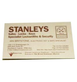 Stanleys Locksmith Logo