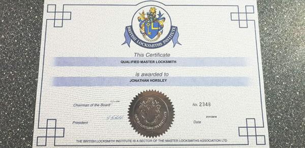 BLI-Certificate-Master-Locksmith