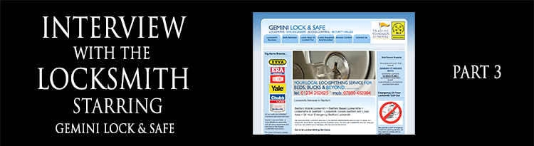 Interview with a Locksmith – Roger Barratt of Gemini Lock & Safe