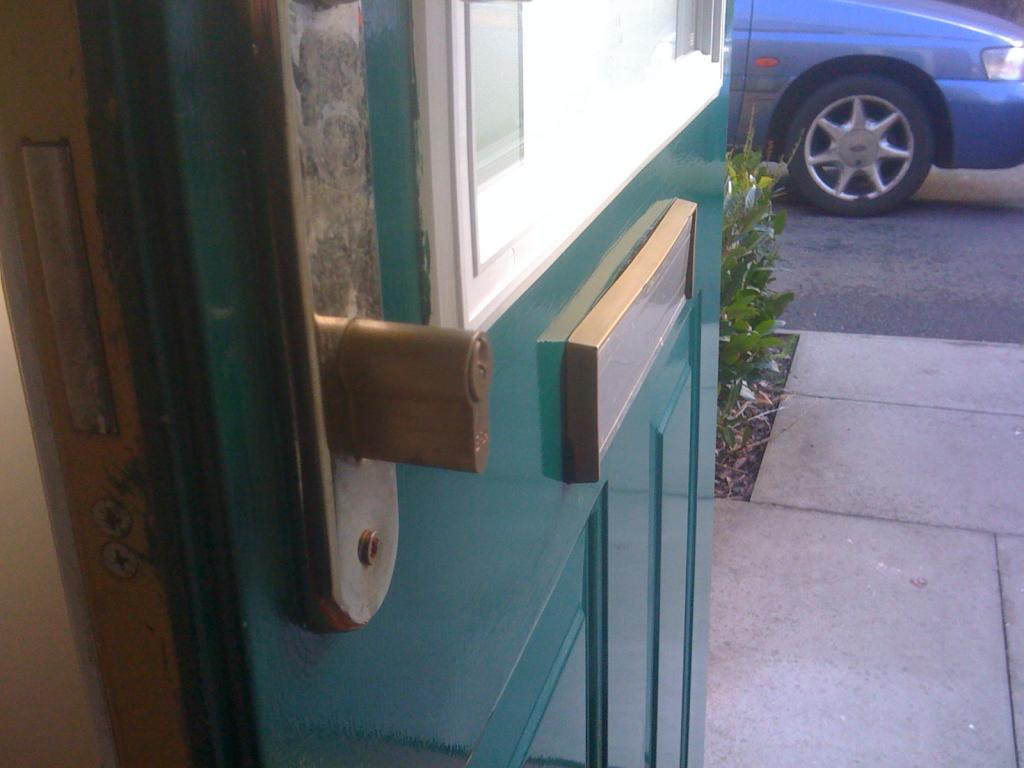Euro Cylinder fitted incorrectly on front door