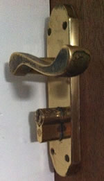 Badly fitted euro lock in house