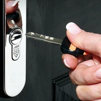 ABS Euro Lock Fitted to door