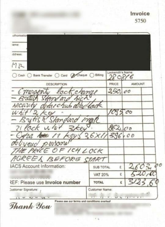 Overcharging-locksmiths-3123-uk-pounds
