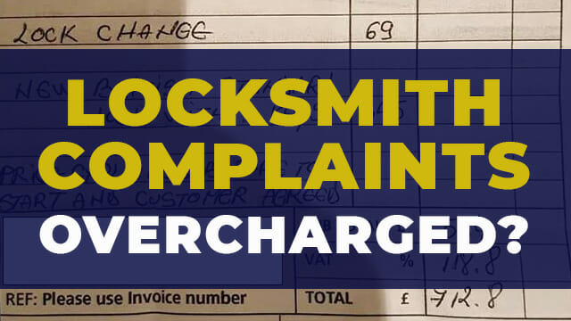 Locksmith complaints and overcharging