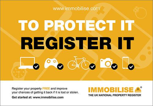 Immobilise Protector Register it Logo