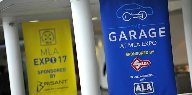 THE GARAGE at MLA Expo new auto locksmithing area