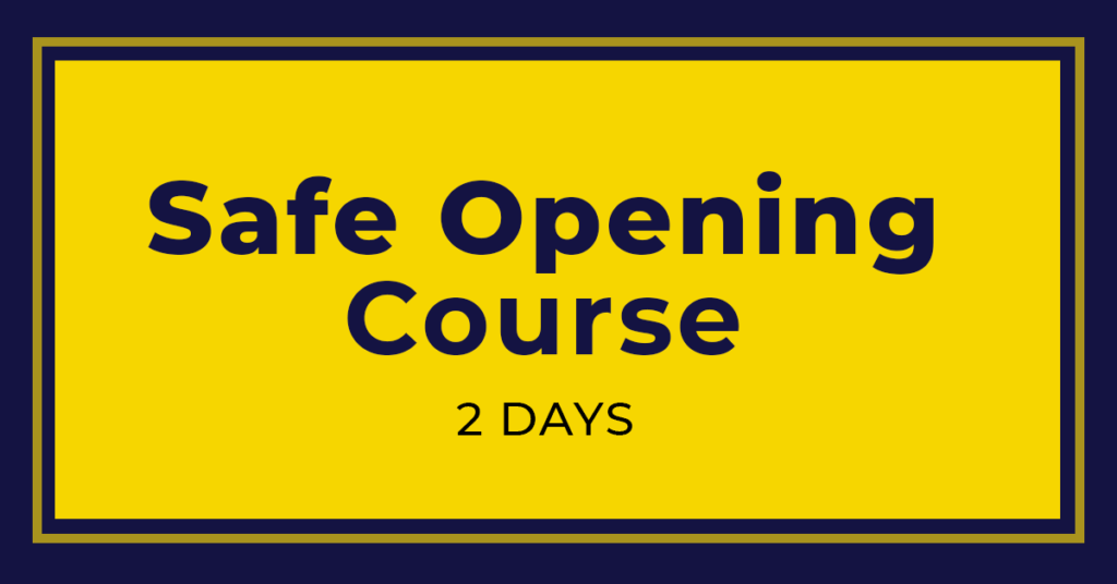 Safe Opening and Repair Training Course