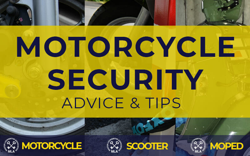 Motorcycle Security - Keep motorcycle scooter or moped secure