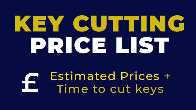 Key Cutting Price List