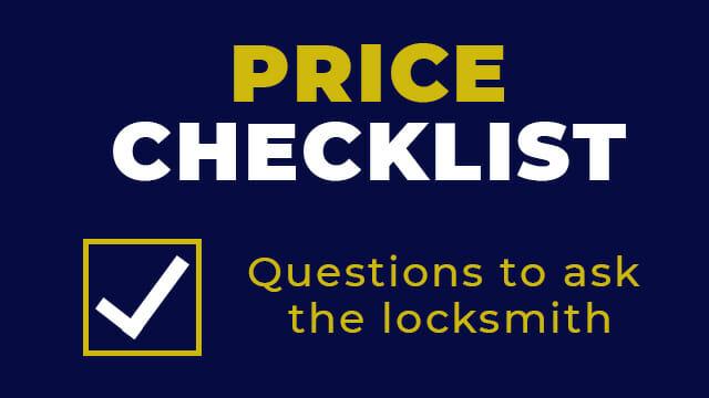 Locksmith Price Checklist