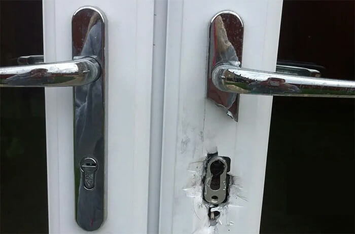 Anti Snap Lock fitted to uPVC doors