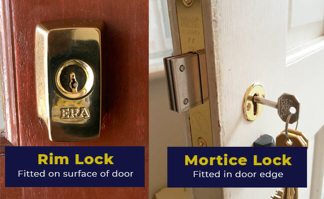 Chubb Door Mortice Bolts and Mortice Bolt Keys Designed for a wood door.