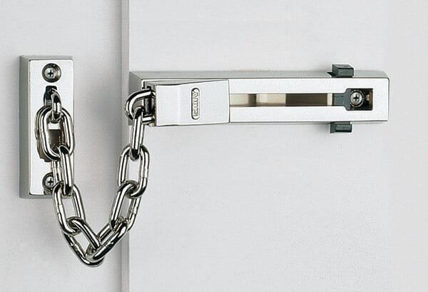 A Door Chain fitted to door