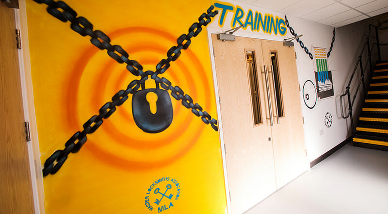 Locksmith Training Workshop Entrance