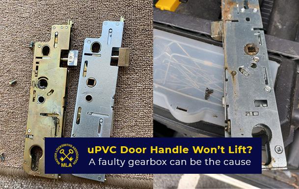 uPVC door handle wont lift - faulty gearbox