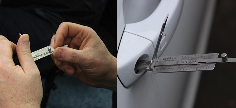 Auto Locksmith Training Course - Using Mr Li HU66 inside Car Lock