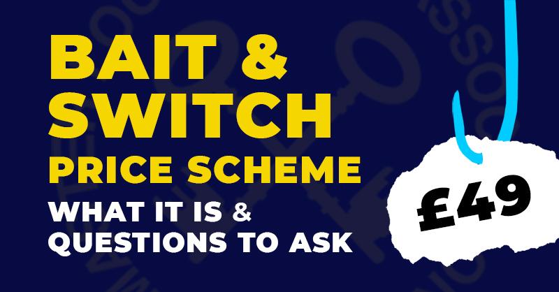 Locksmith Bait and Switch Price Scheme