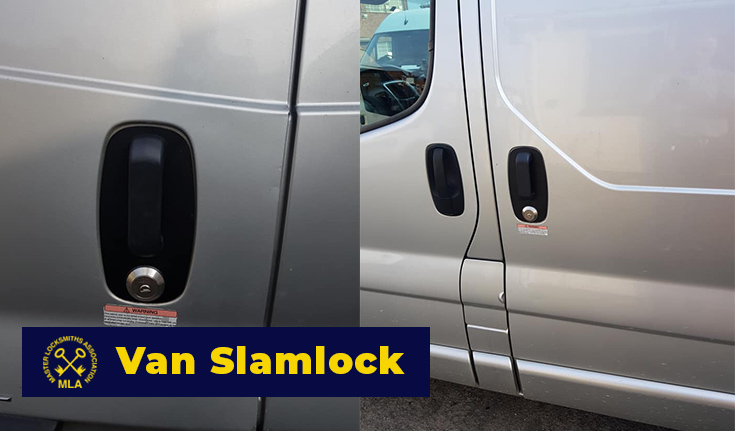 Van Slamlock fitted to Side Door on Van